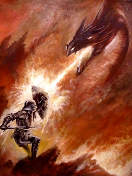 knight vs dragon