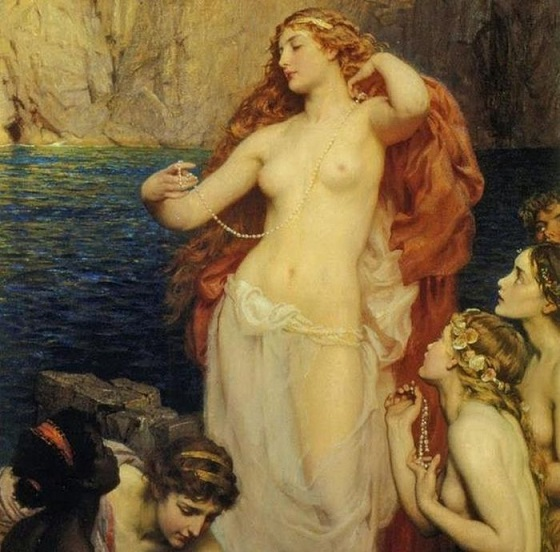 Herbert Draper, the Pearls of Aphrodite, 1907
